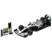 Spark 1/18 2019 Mercedes-AMG W10 EQ Power+ - #44 Lewis Hamilton - 2nd, USA GP 2019 - 2019 Formula One Driver Champion Diecast Car