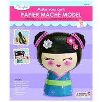 Studio Girl Make Your Own Papier Mache Japanese Doll