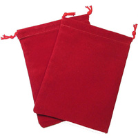 Dice Bag Suedecloth Small Red