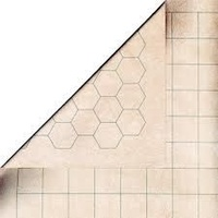 CHX 96246 Reversible Battlemat 1 Squares and 1 Hexes (23 1/2 x 26)