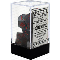 CHX 27478 Velvet Black/red 7-Die Set