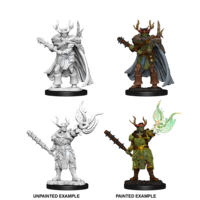 Pathfinder Deep Cuts Unpainted Miniatures Male Half-Orc Druid