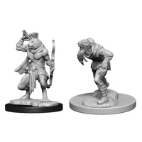 D&D Nolzurs Marvelous Unpainted Miniatures Wererat and Weretiger