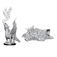 D&D Nolzurs Marvelous Unpainted Miniatures Gold Dragon Wyrmling and Small Treasure Pile