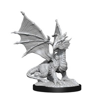 Dungeons & Dragons Nolzurs Marvelous Unpainted Miniatures Silver Dragon Wyrmling & Female Halfling