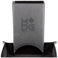 MDG - Fold Up Leather Dice Tower (Black)