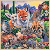 Masterpieces 48pc Wood Fun Facts Desert Friends Jigsaw Puzzle
