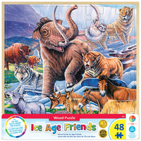 Masterpieces 48pc Wood Fun Facts Ice Age Friends Jigsaw Puzzle