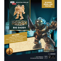 Incredibuilds Bioshock Big Daddy 3D Wood Model and Poster