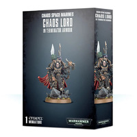 Warhammer 40k Chaos Space Marines Chaos/Sorcerer Lord in Terminator Armour