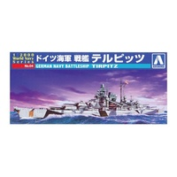 Aoshima 1/700 German Battleship Tirpitz Plastic Model Kit