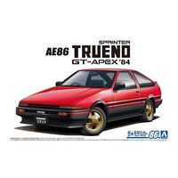 Aoshima 1/24 Toyota AE86 Sprinter Trueno GT-Apex '84 Plastic Model Kit