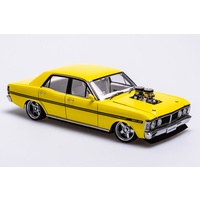Biante 1/18 Ford XY Falcon Street Machine HAZARD- Neon Yellow A72792