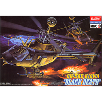 "Academy 12131 1/35 OH-58D Kiowa ""Black Death"" Plastic Model Kit"