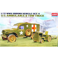 Academy 1/72 US Ambulance & Tow Tractor