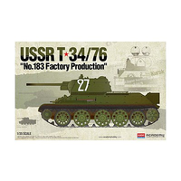 Academy 1/35 USSR T-34/76 No.183 Factory Production 13505 Plastic Model Kit