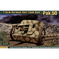Ace 1/72 7.5cm PaK-50 Anti-Tank gun 48105 Plastic Model Kit