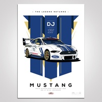 Authentic Collectables The Legend Returns: 2019 Superloop Adelaide 500 #17 Dick Johnson Mustang Illustrated Print