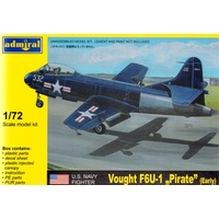 Admiral ADM7211 1/72 Vought F6U Pirate Early Plastic Model Kit