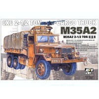 AFV Club AF35004 1/35 M35A2 2 1/2T Cargo Truck Plastic Model Kit