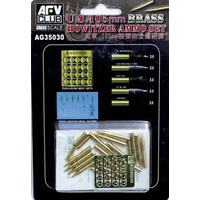 AFV Club AG35030 1/35 U.S. 105mm Howitzer Ammo Set (Brass)