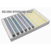 Auscision Silver storage box - vertical foam slots