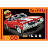 AMT 1/25 1969 Olds 442 W-30 Plastic Model Kit AMT1105