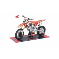 New Ray 1/12 Honda Dirt Bike HRC Factory Racing Team 2017 #14 Cole Seely 57933 Diecast