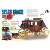 Artesania 20340 1/10 Stage Coach 1848 Wooden Model