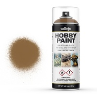 Vallejo Aerosol Leather Brown 400ml Hobby Spray Paint