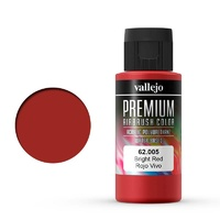 Vallejo 62005 Premium Colour Bright Red 60 ml Acrylic Airbrush Paint