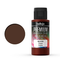 Vallejo Premium Colour Sepia 60 ml Acrylic Airbrush Paint