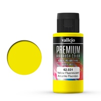 Vallejo Premium Colour Fluorescent Yellow 60 ml Acrylic Airbrush Paint