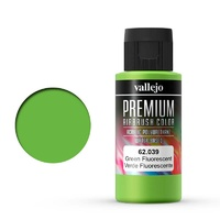 Vallejo 62039 Premium Colour Fluorescent Green 60 ml Acrylic Airbrush Paint