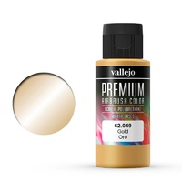 Vallejo Premium Colour Gold 60 ml Acrylic Airbrush Paint