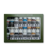 Vallejo Model Colour Folkstone Specialist 16 Colour Acrylic Paint Set