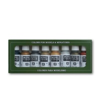 Vallejo 70118 Model Colour Metallic Colors 8 Colour Acrylic Paint Set