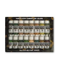 Vallejo 70179 Panzer Aces Panzer Aces Camouflage 16 Colour Acrylic Paint Set