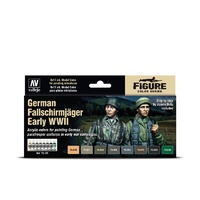 Vallejo 70185 Model Air German Fallschirmjäger Early WWII 8 Colour Acrylic Paint Set