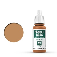 Vallejo Panzer Aces Yellowish Rust 17 ml Acrylic Paint