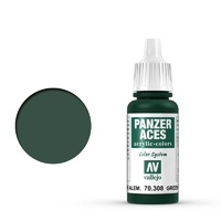 Vallejo Panzer Aces Green Tail Light 17 ml Acrylic Paint