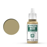 Vallejo 70340 Panzer Aces Afrikakorps Highlights 17 ml Acrylic Paint