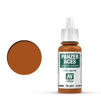 Vallejo 70341 Panzer Aces Flesh Base 17 ml Acrylic Paint