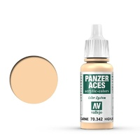 Vallejo 70342 Panzer Aces Flesh Highlights 17 ml Acrylic Paint
