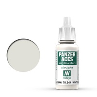 Vallejo 70344 Panzer Aces German Tanker (White) 17 ml Acrylic Paint