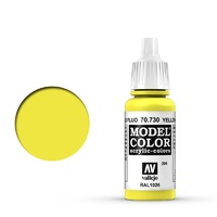 Vallejo Model Colour Fluorescent Yellow 17 ml Acrylic Paint