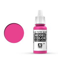 Vallejo Model Colour Fluorescent Magenta 17 ml Acrylic Paint