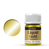 Vallejo Model Colour Metallic Old Gold (Alcohol Base) 35 ml Acrylic Paint