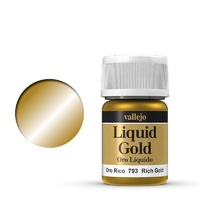 Vallejo Model Colour Metallic Rich Gold (Alcohol Base) 35 ml Acrylic Paint