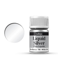 Vallejo Model Colour Metallic White Gold (Alcohol Base) 35 ml Acrylic Paint